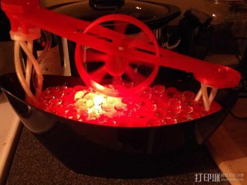 迷你喷泉 3D打印模型渲染图