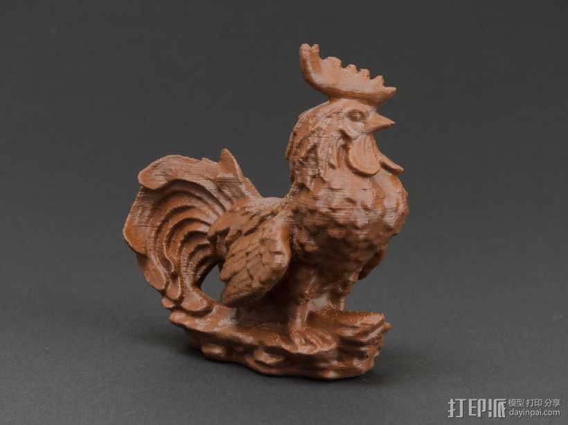 花园公鸡 3D打印模型渲染图