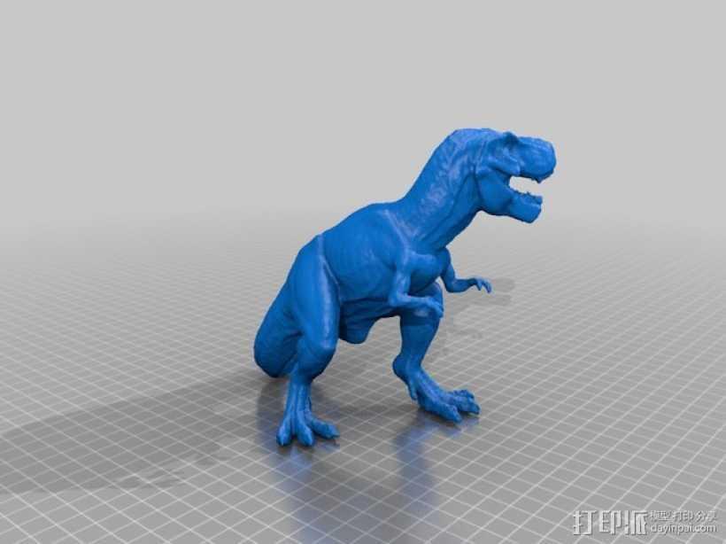 霸王龙 3D打印模型渲染图