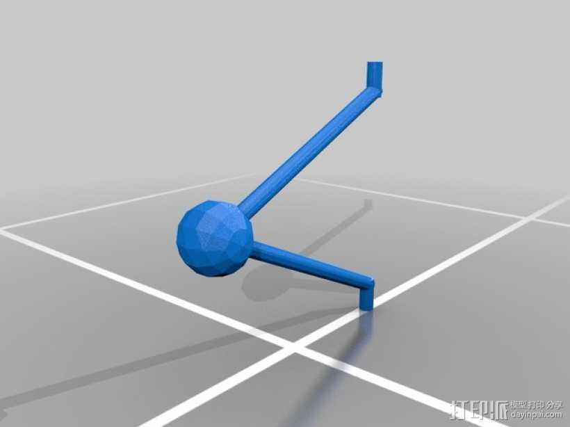 牛顿摆桌面游戏 3D打印模型渲染图