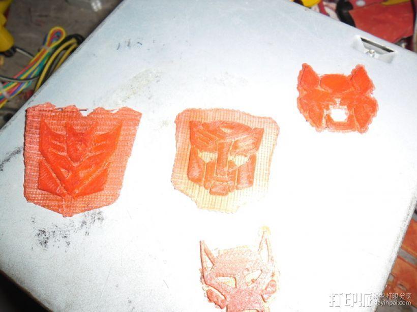 变形金刚 标志 3D打印模型渲染图