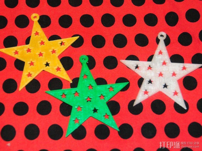 五角星 3D打印模型渲染图