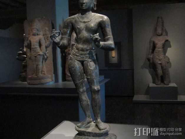 湿婆 雕塑 3D打印模型渲染图