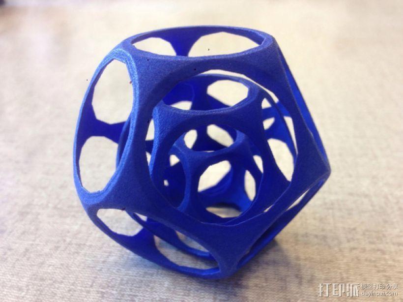 十二面体陀螺 3D打印模型渲染图