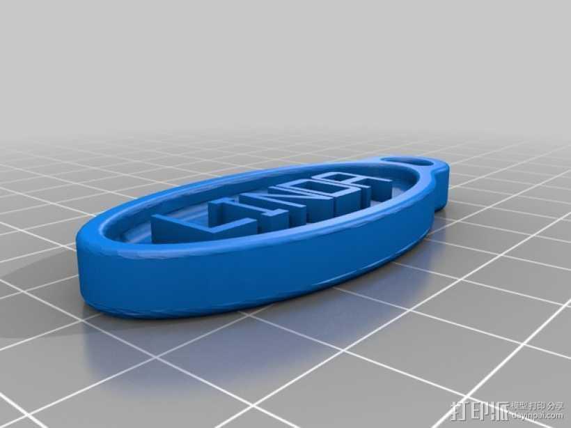 Linda 钥匙扣 3D打印模型渲染图