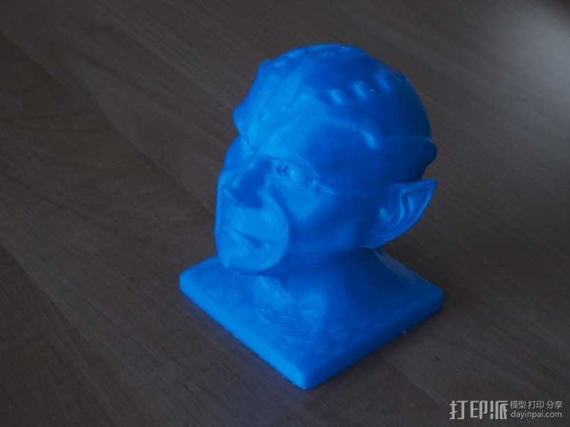 《星际迷航》外星人头像 3D打印模型渲染图