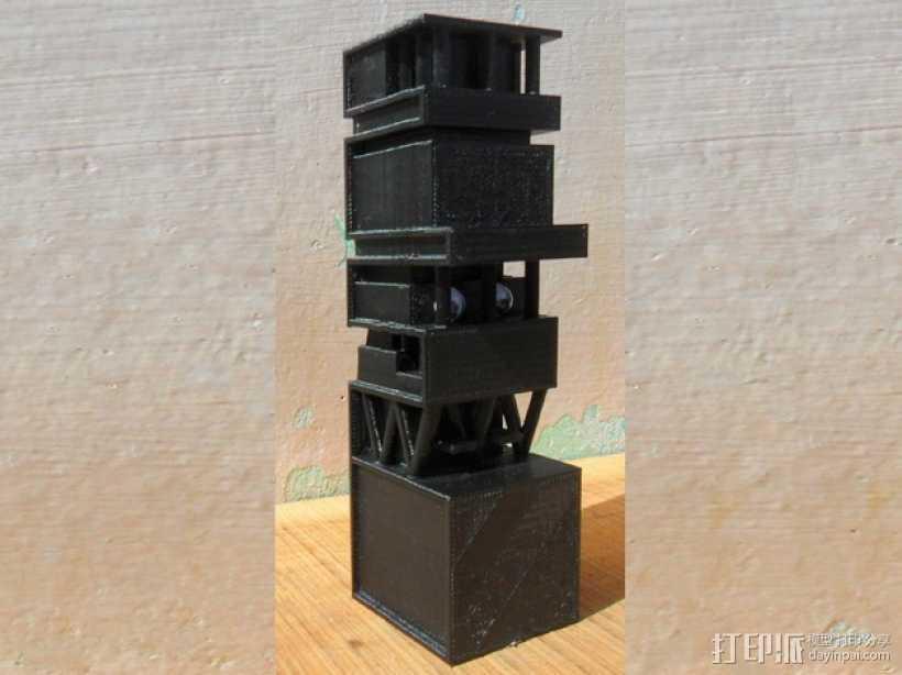 孟买 安提利亚建筑 3D打印模型渲染图