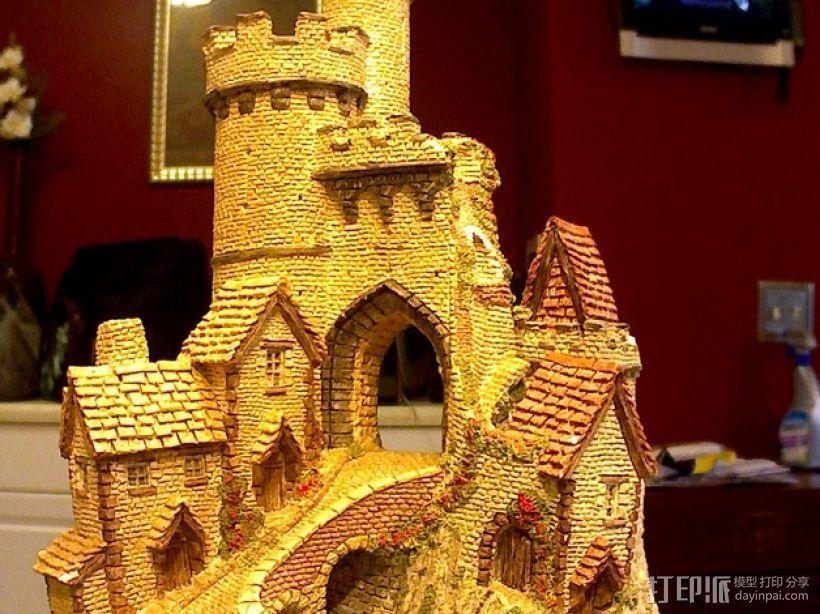冬季城堡  3D打印模型渲染图