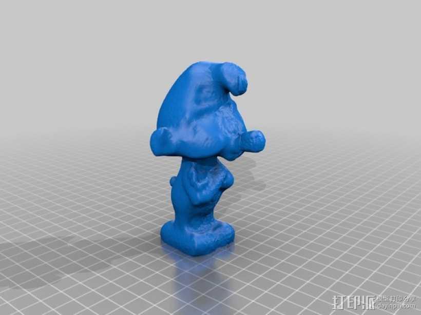 蓝精灵 3D打印模型渲染图