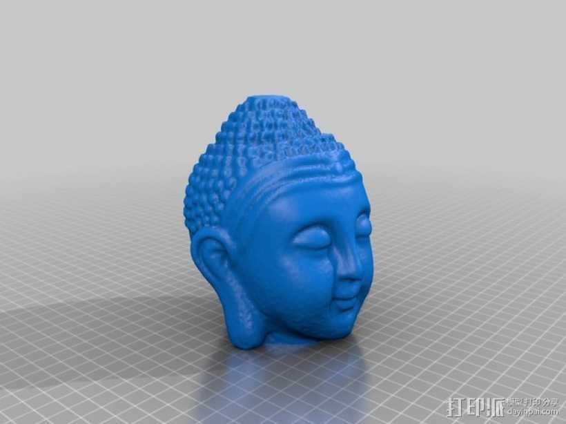 佛陀头像 3D打印模型渲染图
