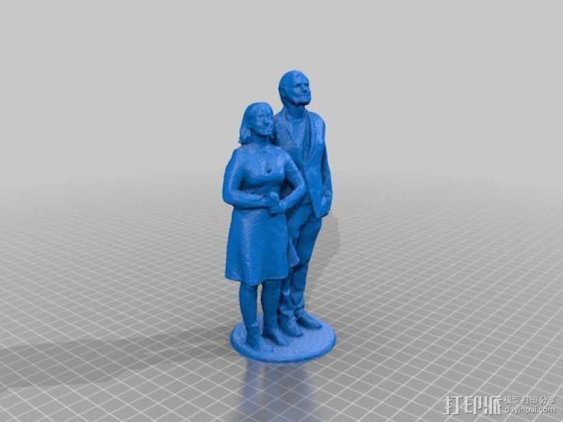 结婚蛋糕上层的装饰品 3D打印模型渲染图
