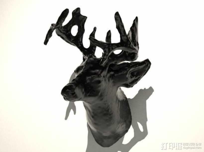 鹿头 装饰品 3D打印模型渲染图