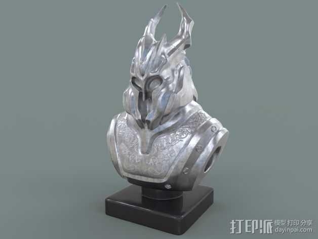 游戏《霸王:黑暗传奇》人物 3D打印模型渲染图