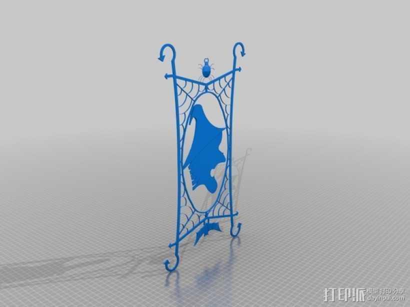 窗户上的女巫 装饰品 3D打印模型渲染图