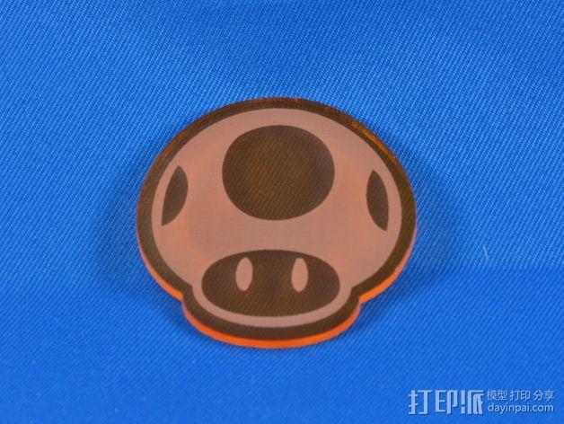 游戏《超级马里奥》蘑菇 3D打印模型渲染图
