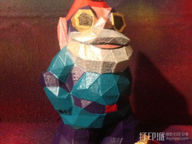 低聚侏儒 3D打印模型渲染图