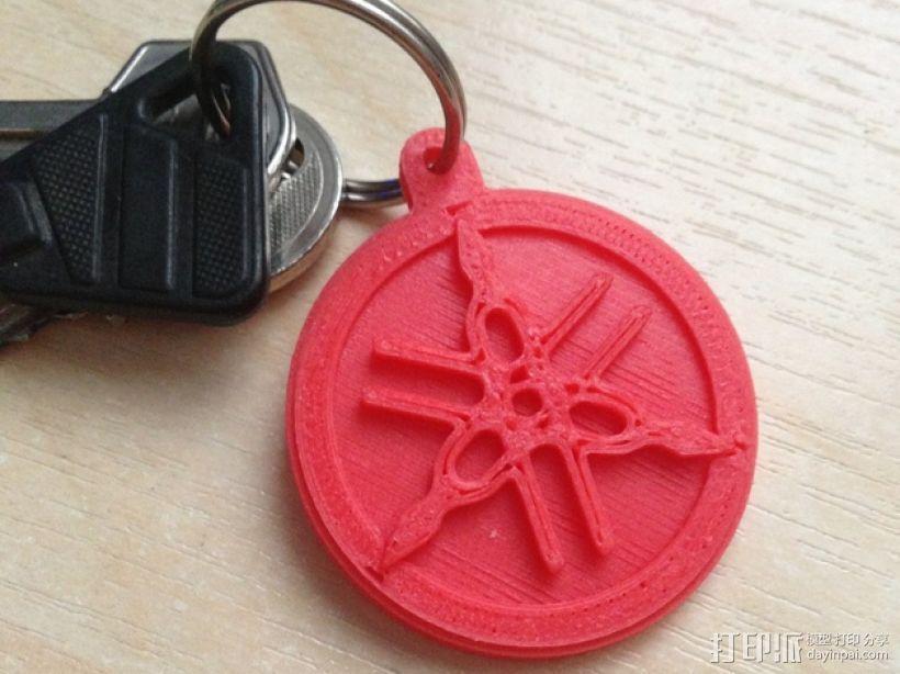 雅马哈标志 钥匙扣 3D打印模型渲染图