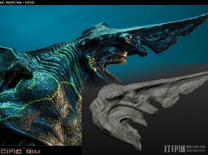 电影《环太平洋》怪兽 3D打印模型渲染图