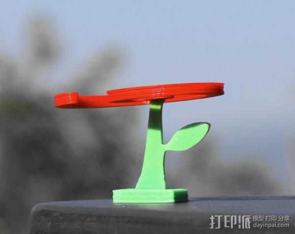 旋转飞花 3D打印模型渲染图