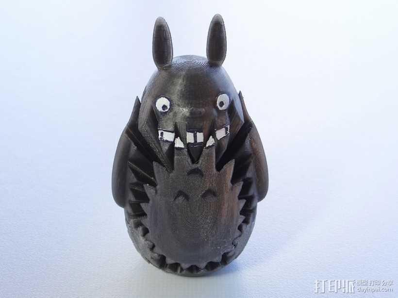 龙猫 齿轮 3D打印模型渲染图