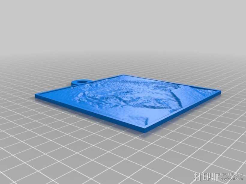 爱因斯坦 浮雕 3D打印模型渲染图