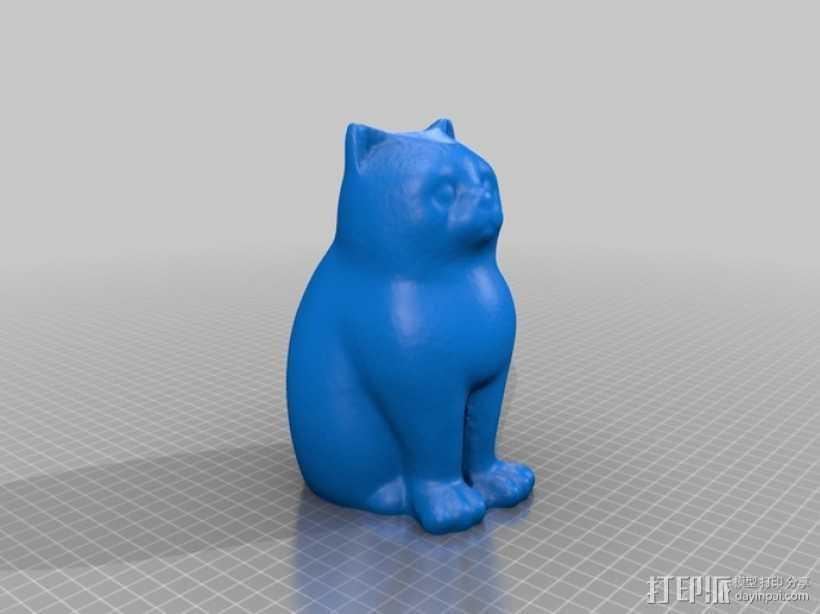 镭射猫 3D打印模型渲染图