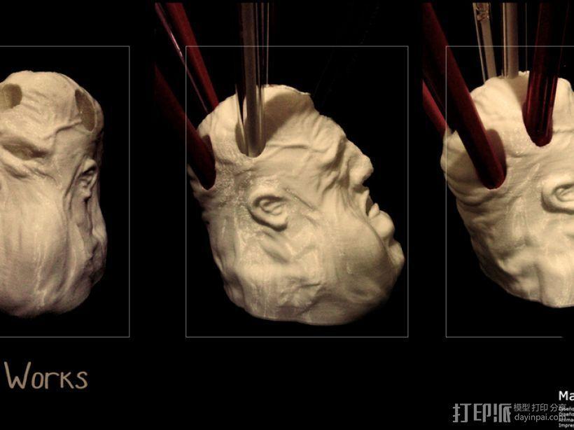 压力释放机—胖家伙—笔筒 3D打印模型渲染图