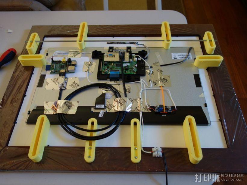 参数化智能相框 3D打印模型渲染图