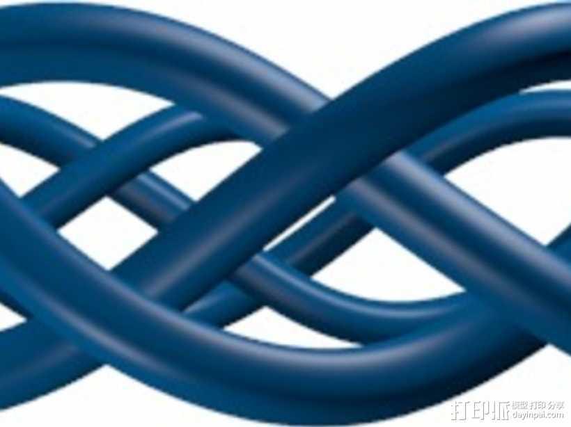 编织手链 3D打印模型渲染图