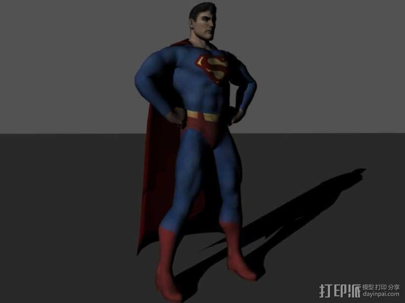 超人进行中 3D打印模型渲染图