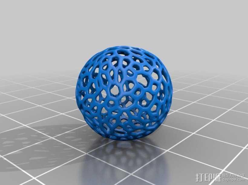 镂空小球 3D打印模型渲染图