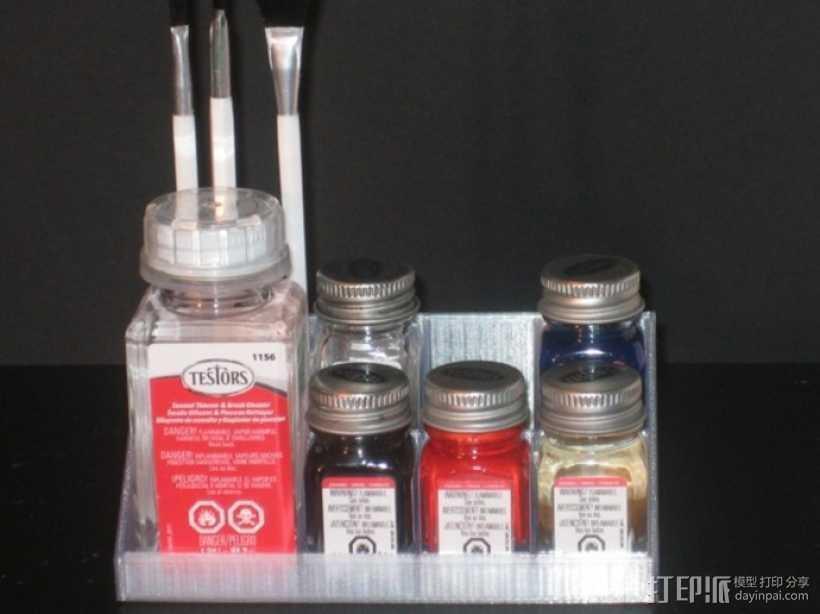 Testors 颜料瓶放置槽 3D打印模型渲染图