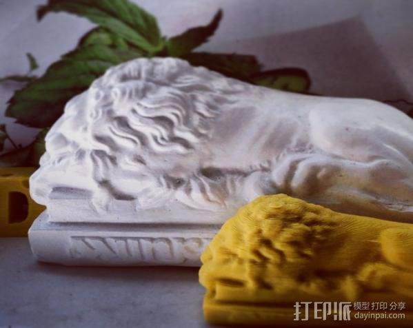 石狮子 3D打印模型渲染图