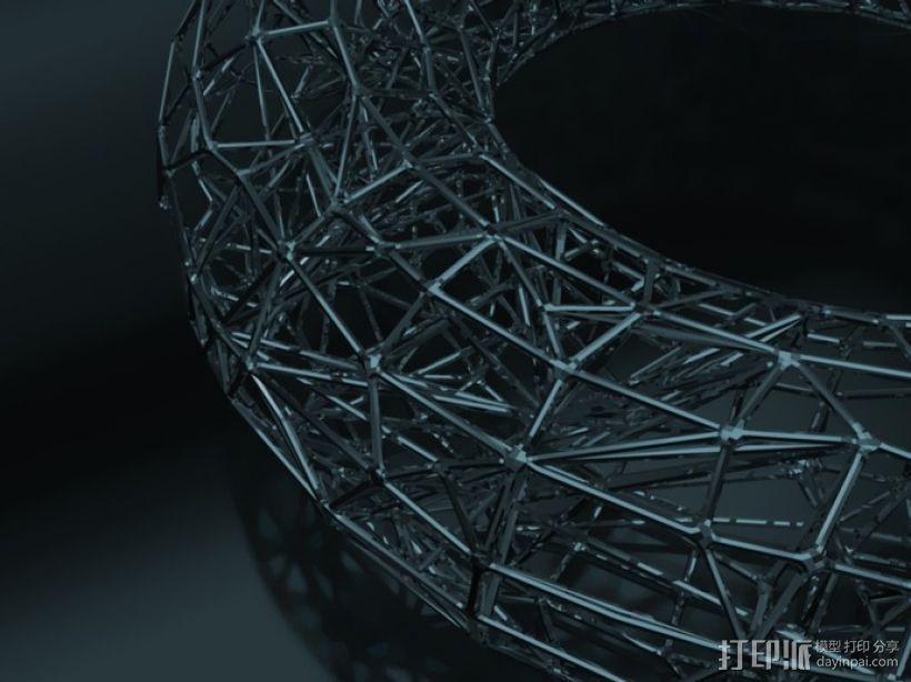 泰森多边形槽 3D打印模型渲染图