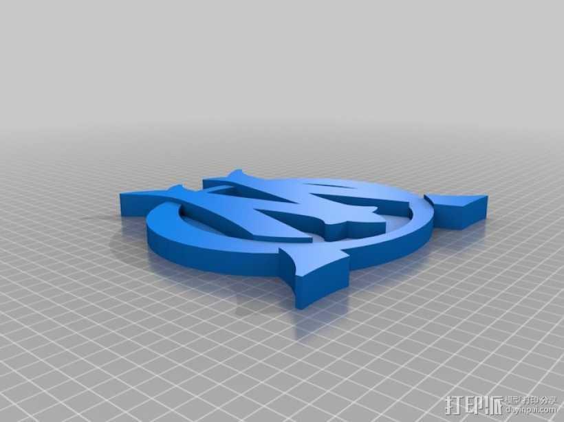 马赛足球俱乐部 标志 3D打印模型渲染图