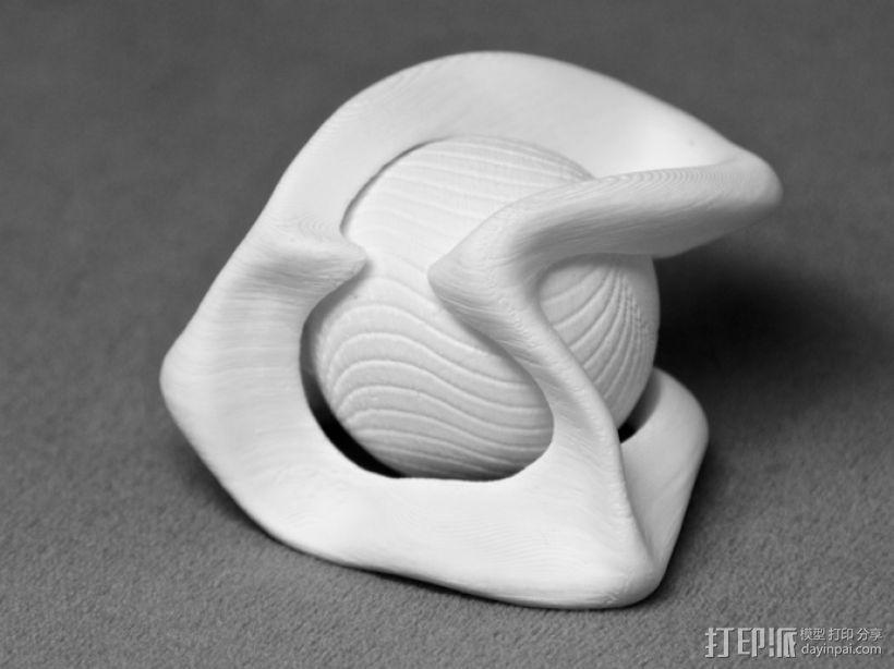 葡萄藤包围的小球 3D打印模型渲染图