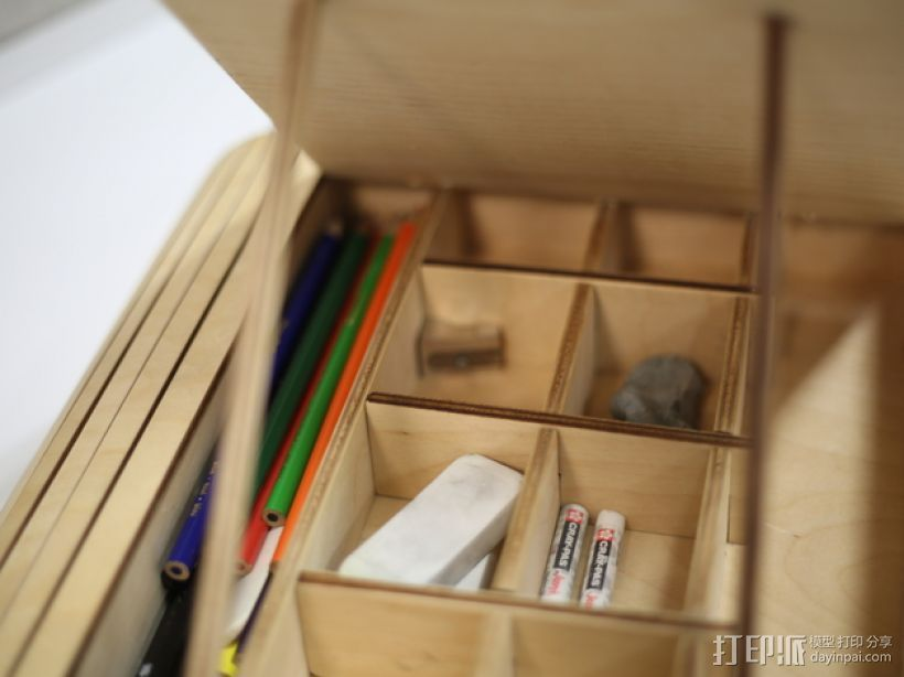 绘画用品收纳盒 3D打印模型渲染图