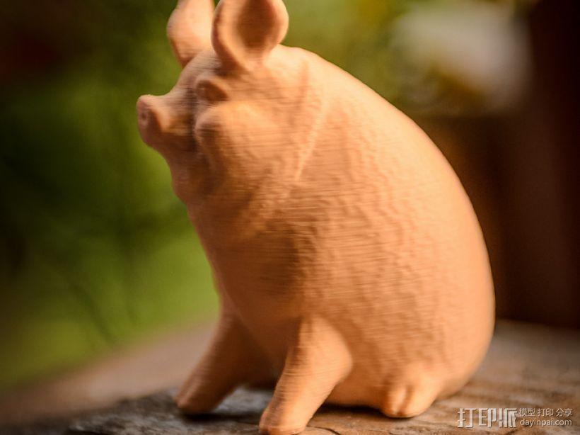 小猪 3D打印模型渲染图