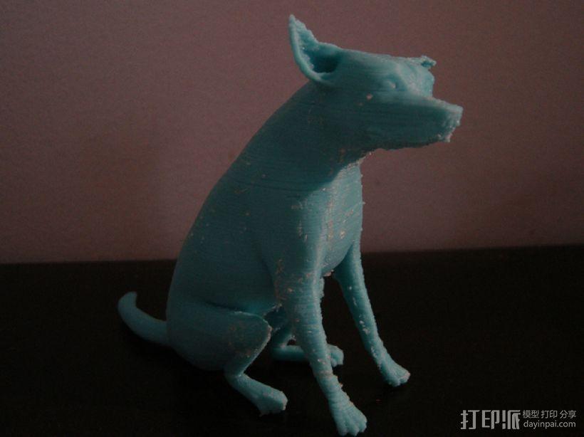 已逝的小狗 3D打印模型渲染图