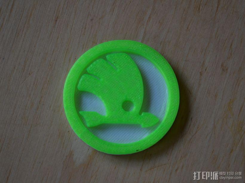 斯柯达汽车 标志  3D打印模型渲染图
