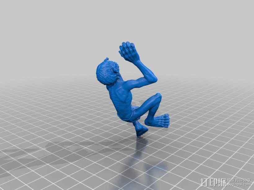 咕噜姆 3D打印模型渲染图
