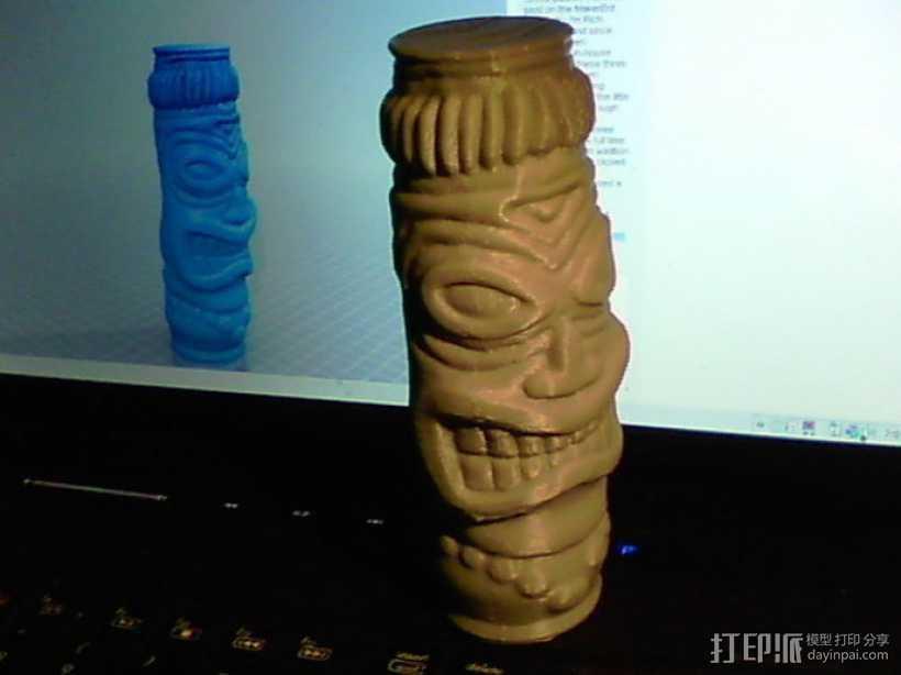 提基神像 模具 3D打印模型渲染图