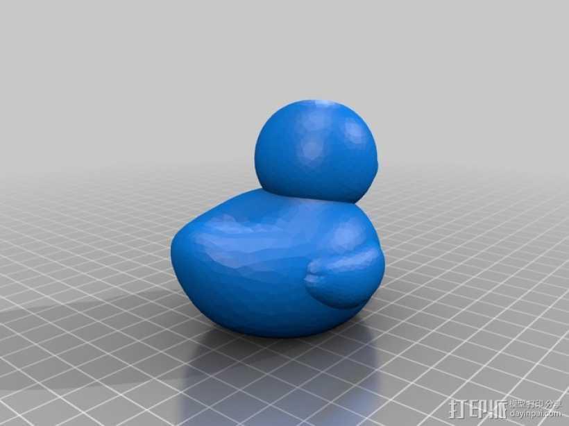 大黄鸭 橡皮鸭 3D打印模型渲染图
