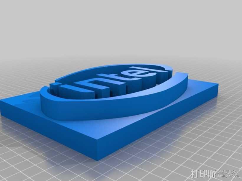英特尔 面板 3D打印模型渲染图