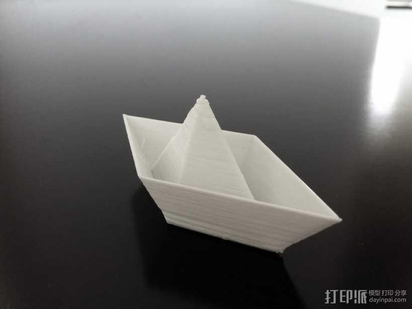 小纸船 3D打印模型渲染图