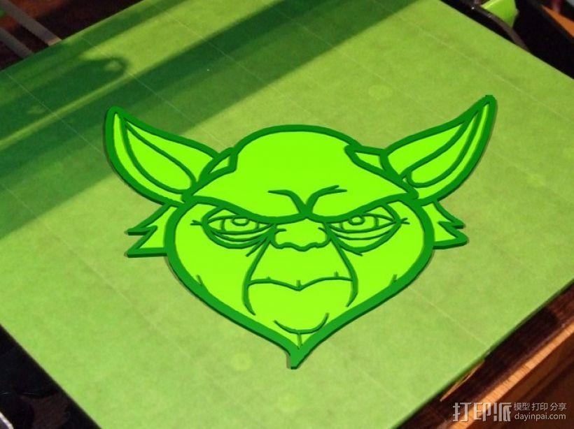尤达大师 标签 3D打印模型渲染图