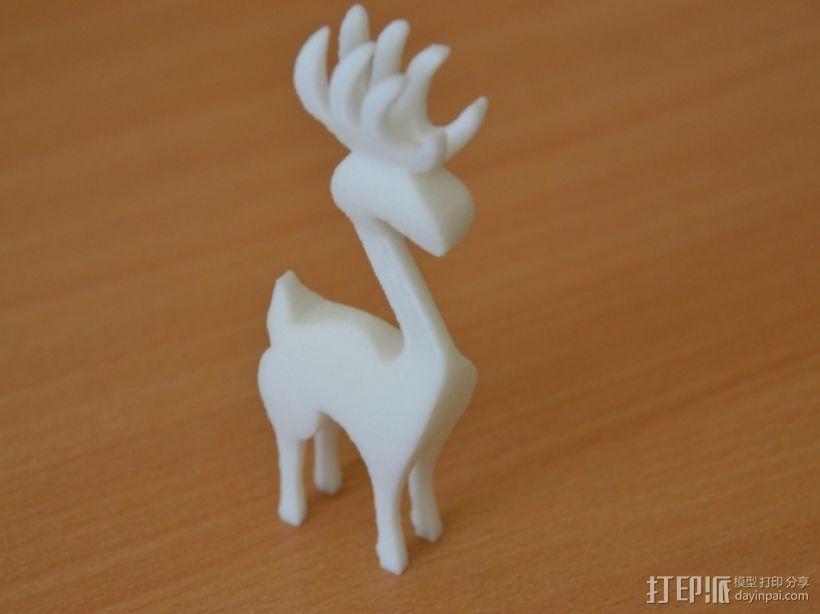 麋鹿 3D打印模型渲染图