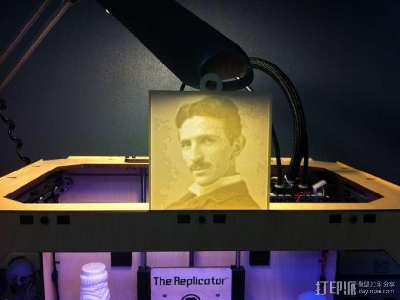 特斯拉 头像 3D打印模型渲染图