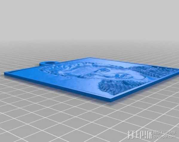 Elvis人像浮雕 3D打印模型渲染图