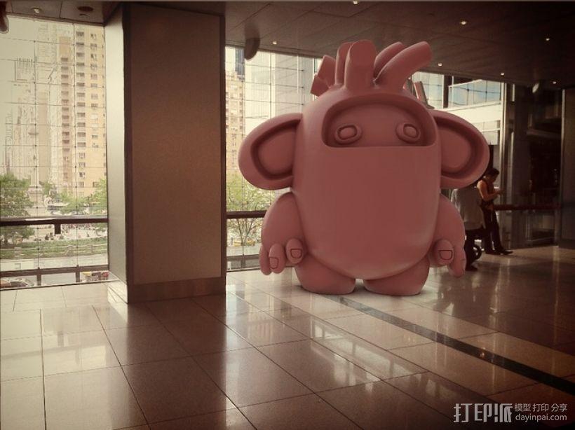 luxGob 玩偶 3D打印模型渲染图